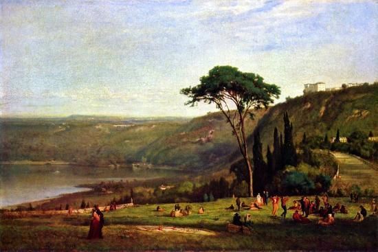 Albanersee-George Innes-Art Print