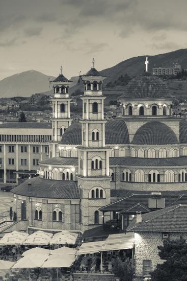 Albania, Korca, the Orthodox Cathedral, Boulevard Republika-Walter Bibikow-Photographic Print