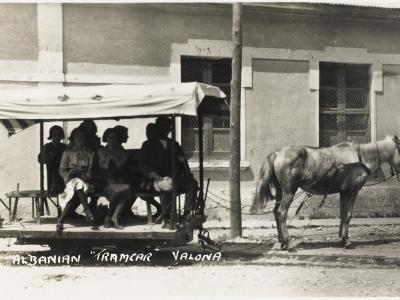 Albania - Vlore - a Horse-Drawn Tram--Photographic Print