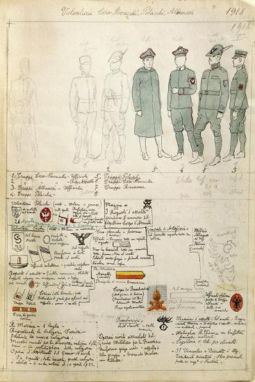 Albanian, Czechoslovakian and Polish Volunteer Uniforms of Kingdom of Italy--Giclee Print