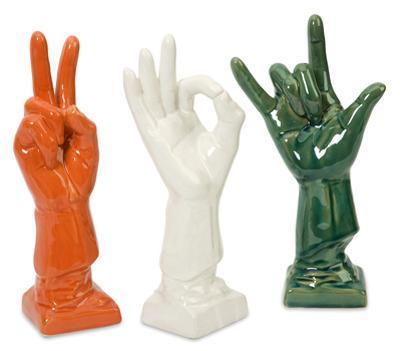 Albany Ceramic Hand Trio