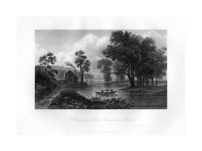 Albany from Van-Unsselaens Island, New York State, 1855--Giclee Print