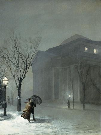 Albany in the Snow      by Walter L Palmer  Giclee Canvas Print Repro