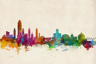Albany New York Skyline-Michael Tompsett-Art Print