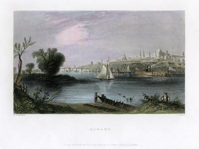 Albany, New York, USA, 1837-C Cousen-Giclee Print