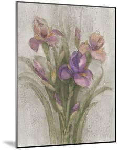Purple Iris Garden on Grey by Albena Hristova
