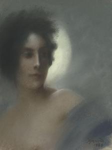 Etude de femme, ou l'Eclipse, ou Femme au croissant by Albert Besnard
