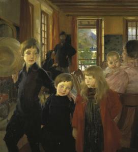 Une Famille Ou La Famille de L'Artiste by Albert Besnard