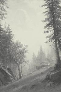 Among the Bernese Alps - Vintage by Albert Bierstadt
