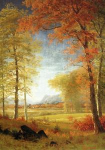 Autumn in America, Oneida County, New York by Albert Bierstadt
