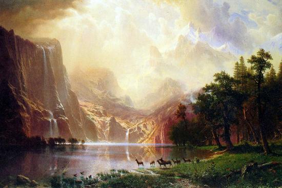 Albert Bierstadt Between the Sierra Nevada Mountains-Albert Bierstadt-Art Print