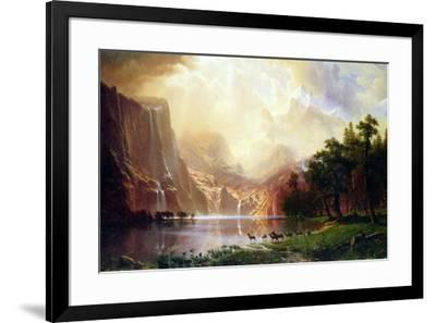Albert Bierstadt Between the Sierra Nevada Mountains-Albert Bierstadt-Framed Art Print