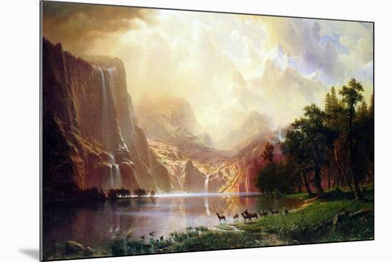 Albert Bierstadt Between the Sierra Nevada Mountains-Albert Bierstadt-Mounted Art Print