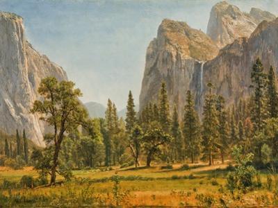 Bridal Veil Falls, Yosemite Valley, California, 1871-73 by Albert Bierstadt