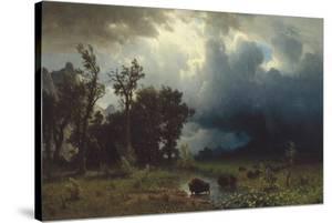 Buffalo Trail: The Impending Storm, 1869 by Albert Bierstadt