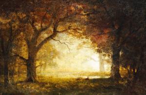 Forest Sunrise by Albert Bierstadt