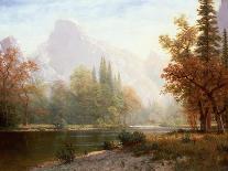 Salmon Fishing on the Caspapediac River (Quebec, Canada)-Albert Bierstadt-Giclee Print
