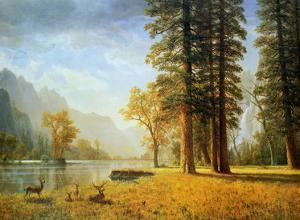 Hetch Hetchy Valley, California by Albert Bierstadt