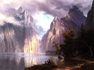 In the Sierra Nevada, C.1861 by Albert Bierstadt