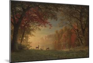 Indian Sunset: Deer by a Lake, c.1880-90 by Albert Bierstadt