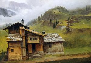 Mountain House by Albert Bierstadt