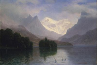 Mountain Scene, 1880-90 by Albert Bierstadt