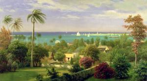 Panoramic View of the Harbour at Nassau in the Bahamas by Albert Bierstadt