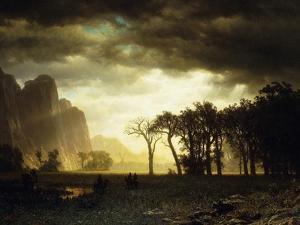 Passing Storm in Yosemite, 1865 by Albert Bierstadt