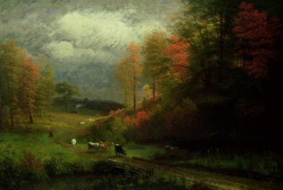 Rainy Day in Autumn, Massachusetts, 1857 by Albert Bierstadt