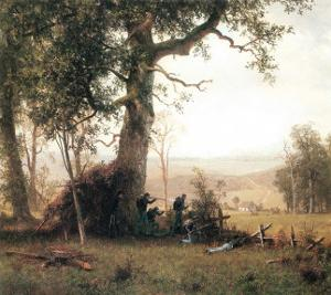 Rebellion, Picketline in Virginia by Albert Bierstadt