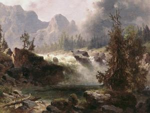 Rocky Mountain Stream by Albert Bierstadt
