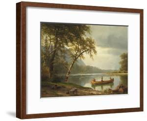 Salmon Fishing on the Caspapediac River (Quebec, Canada) by Albert Bierstadt