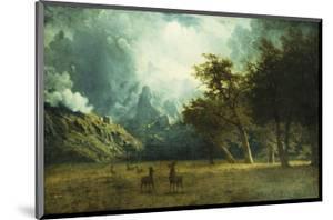 Storm on Laramie Peak by Albert Bierstadt