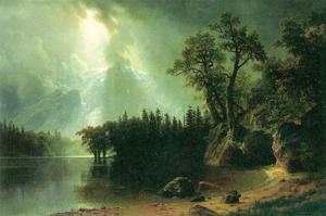 Storm over the Sierra Nevada by Albert Bierstadt