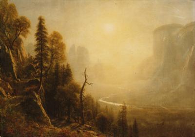 Study for Yosemite Valley, Glacier Point Trail by Albert Bierstadt
