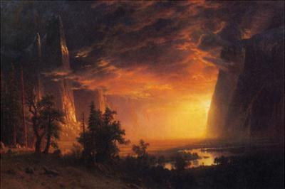 Sunrise in Yosemite Valley by Albert Bierstadt