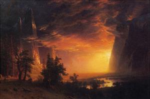Sunrise in Yosemite Valley by Albert Bierstadt