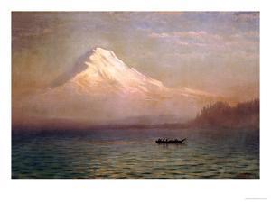 Sunrise on Mount Tacoma by Albert Bierstadt