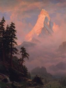 Sunrise on the Matterhorn, after 1875 by Albert Bierstadt