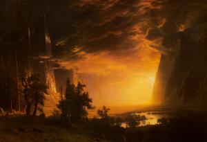 Sunset in the Yosemite Valley, 1868 by Albert Bierstadt