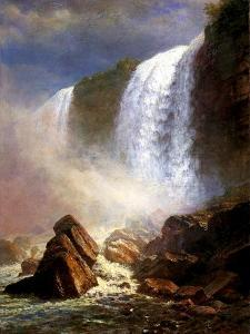 The Niagara Falls by Albert Bierstadt