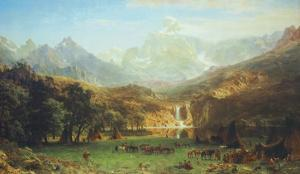 The Rocky Mountains, Lander's Peak by Albert Bierstadt