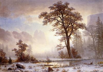 Valley of the Yosemite -Snow Fall
