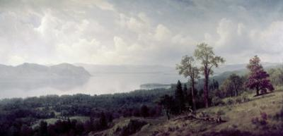 View of the Hudson Looking Across the Tappanzee by Albert Bierstadt