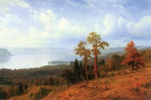 View of the Hudson River Valley by Albert Bierstadt