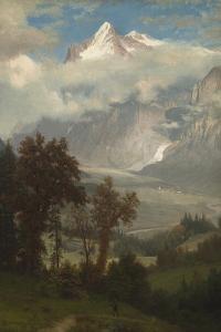 View of the Wetterhorn from the Valley of Grindelwald by Albert Bierstadt