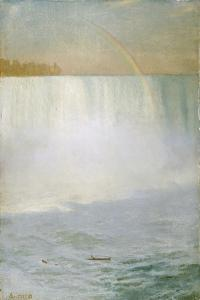 Waterfall and Rainbow, Niagara by Albert Bierstadt