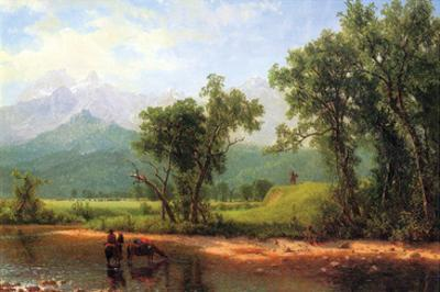 Wind River Mountains, Landscape in Wyoming by Albert Bierstadt