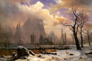 Yosemite Winter Scene by Albert Bierstadt