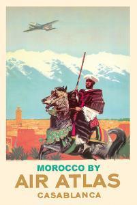 Casablanca, Morocco - Air Atlas - Moroccan Horse Rider by Albert Brenet